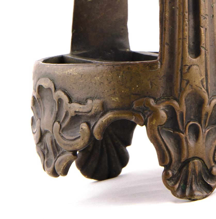 "6 remates /""campana/"" en Antik bronce para 6 mm cintas"